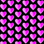 Heart Pattern Pink #1 MOM 3D Greeting Cards (8x4)  Inside
