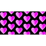 Heart Pattern Pink Merry Xmas 3D Greeting Card (8x4)  Front