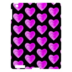 Heart Pattern Pink Apple iPad 3/4 Hardshell Case