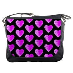 Heart Pattern Pink Messenger Bags