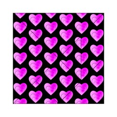 Heart Pattern Pink Acrylic Tangram Puzzle (6  x 6 )
