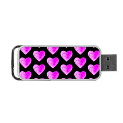 Heart Pattern Pink Portable USB Flash (One Side)