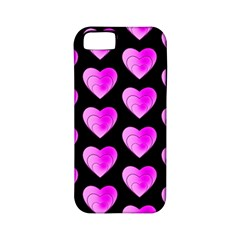 Heart Pattern Pink Apple iPhone 5 Classic Hardshell Case (PC+Silicone)