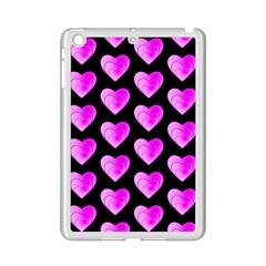Heart Pattern Pink iPad Mini 2 Enamel Coated Cases