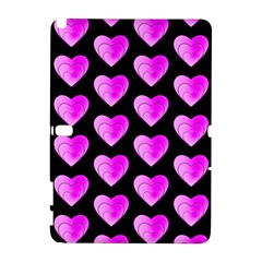 Heart Pattern Pink Samsung Galaxy Note 10.1 (P600) Hardshell Case