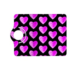 Heart Pattern Pink Kindle Fire HD (2013) Flip 360 Case