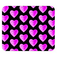 Heart Pattern Pink Double Sided Flano Blanket (Small)