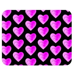Heart Pattern Pink Double Sided Flano Blanket (Medium)