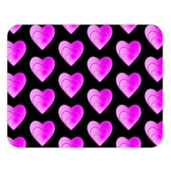 Heart Pattern Pink Double Sided Flano Blanket (Large)