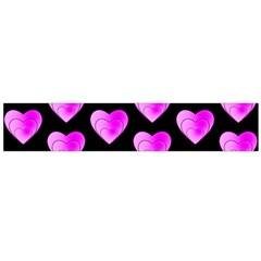 Heart Pattern Pink Flano Scarf (large)