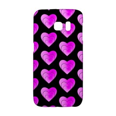 Heart Pattern Pink Galaxy S6 Edge