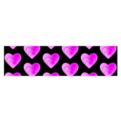 Heart Pattern Pink Satin Scarf (oblong)