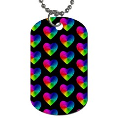 Heart Pattern Rainbow Dog Tag (Two Sides)
