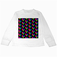 Heart Pattern Rainbow Kids Long Sleeve T Shirts
