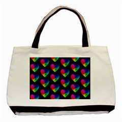 Heart Pattern Rainbow Basic Tote Bag
