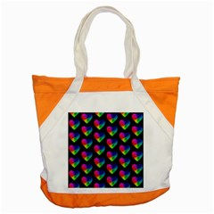 Heart Pattern Rainbow Accent Tote Bag
