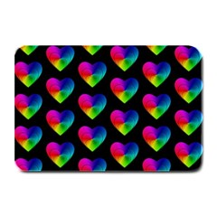 Heart Pattern Rainbow Plate Mats
