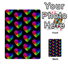 Heart Pattern Rainbow Multi Purpose Cards (rectangle)