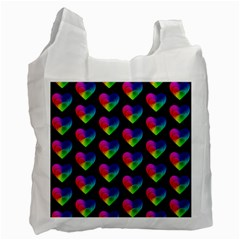 Heart Pattern Rainbow Recycle Bag (Two Side)