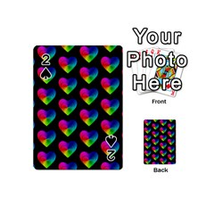 Heart Pattern Rainbow Playing Cards 54 (mini)
