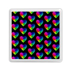 Heart Pattern Rainbow Memory Card Reader (square)