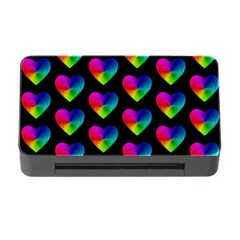 Heart Pattern Rainbow Memory Card Reader With Cf