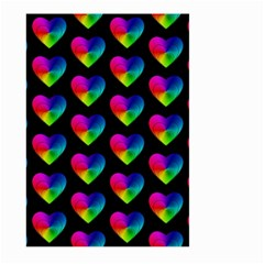 Heart Pattern Rainbow Large Garden Flag (Two Sides)