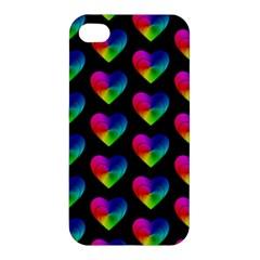 Heart Pattern Rainbow Apple iPhone 4/4S Premium Hardshell Case