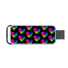 Heart Pattern Rainbow Portable Usb Flash (two Sides)