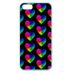 Heart Pattern Rainbow Apple Seamless iPhone 5 Case (Color)
