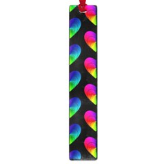 Heart Pattern Rainbow Large Book Marks