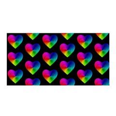 Heart Pattern Rainbow Satin Wrap
