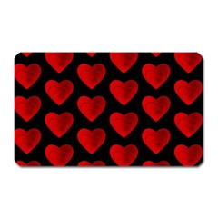 Heart Pattern Red Magnet (Rectangular)