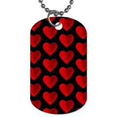 Heart Pattern Red Dog Tag (One Side)
