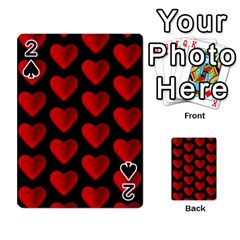 Heart Pattern Red Playing Cards 54 Designs