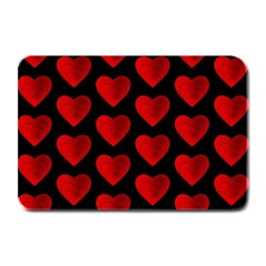 Heart Pattern Red Plate Mats