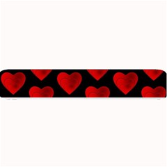 Heart Pattern Red Small Bar Mats