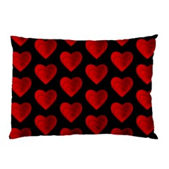 Heart Pattern Red Pillow Cases