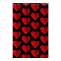 Heart Pattern Red Shower Curtain 48  x 72  (Small)