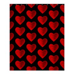 Heart Pattern Red Shower Curtain 60  x 72  (Medium)