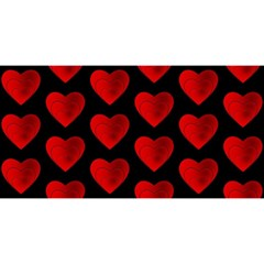 Heart Pattern Red You Are Invited 3d Greeting Card (8x4)