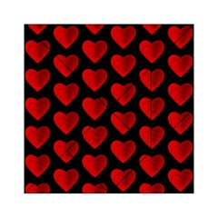 Heart Pattern Red Acrylic Tangram Puzzle (6  x 6 )