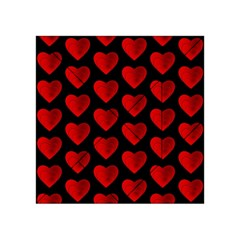 Heart Pattern Red Acrylic Tangram Puzzle (4  x 4 )