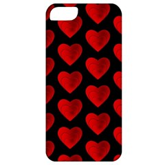 Heart Pattern Red Apple iPhone 5 Classic Hardshell Case