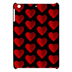 Heart Pattern Red Apple iPad Mini Hardshell Case