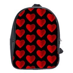Heart Pattern Red School Bags (XL)