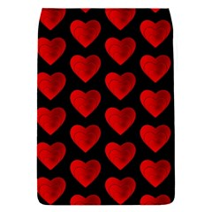 Heart Pattern Red Flap Covers (S)