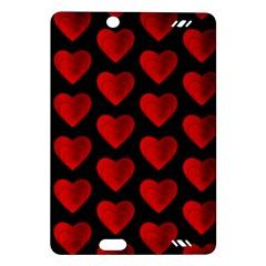 Heart Pattern Red Kindle Fire HD (2013) Hardshell Case