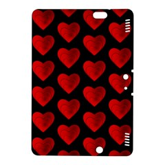 Heart Pattern Red Kindle Fire HDX 8.9  Hardshell Case
