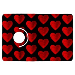 Heart Pattern Red Kindle Fire HDX Flip 360 Case